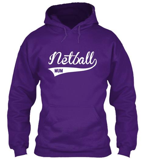 Netball Mum Purple Sweatshirt Front