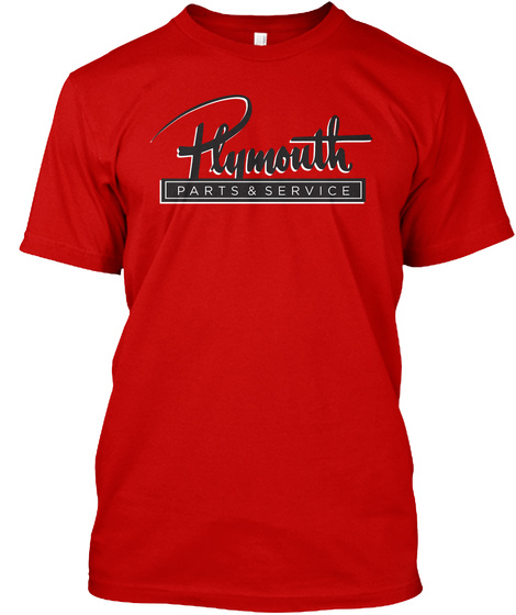 Plymouth Parts & Service  Classic Red T-Shirt Front