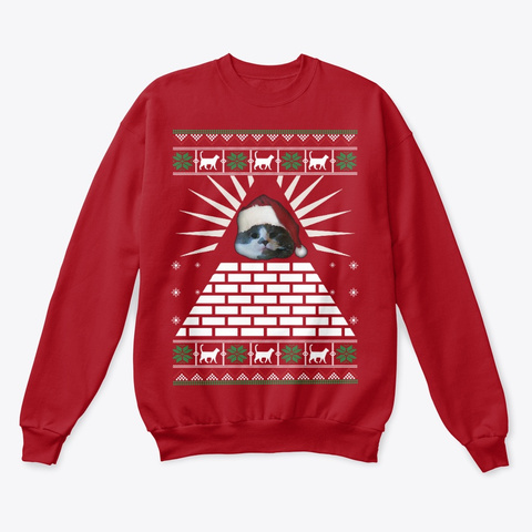 Greg Ugly Christmas Sweater Deep Red  T-Shirt Front