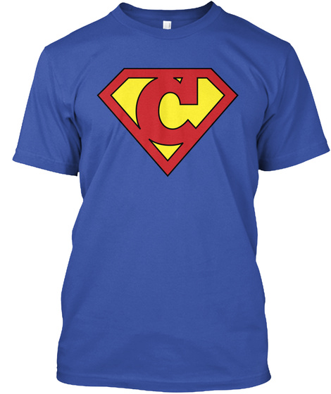 C Programming Superhero T Shirt / Hoodie Royal T-Shirt Front