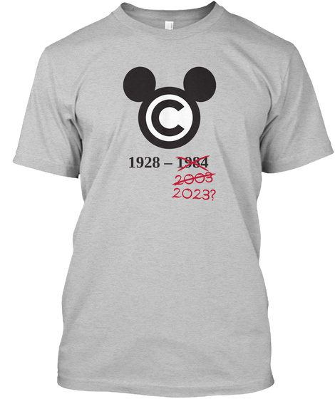 Copymouse, By Techdirt Light Heather Grey  T-Shirt Front