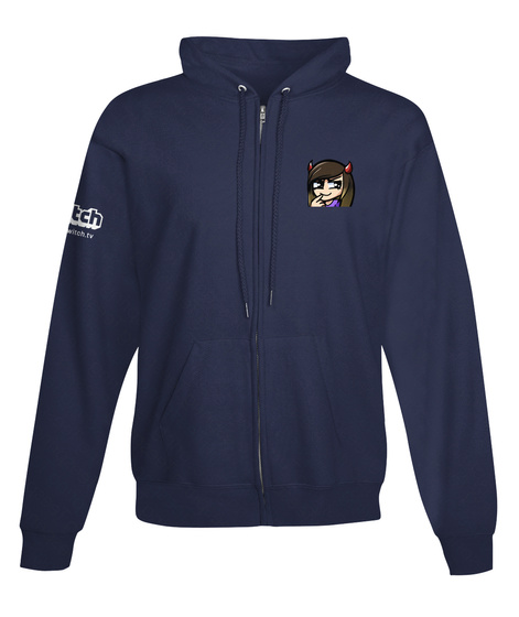 Flow Nation's Official Twitch Hoodie!  Navy Heather Sweatshirt Front