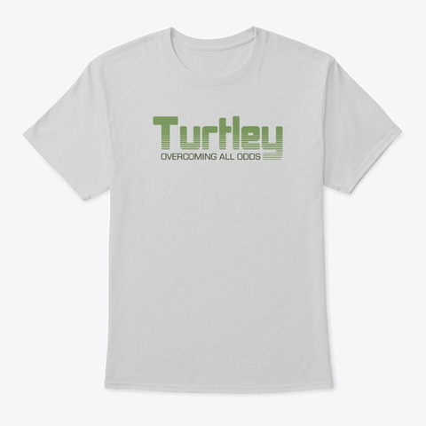 Turtley Tees Light Steel T-Shirt Front