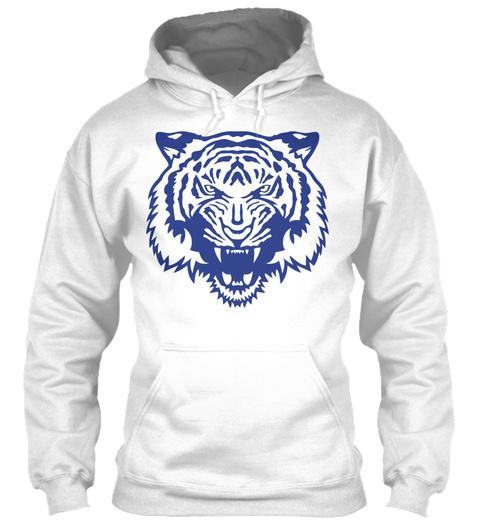 Tiger Wild Animal Cartoon Face 2 5 White T-Shirt Front