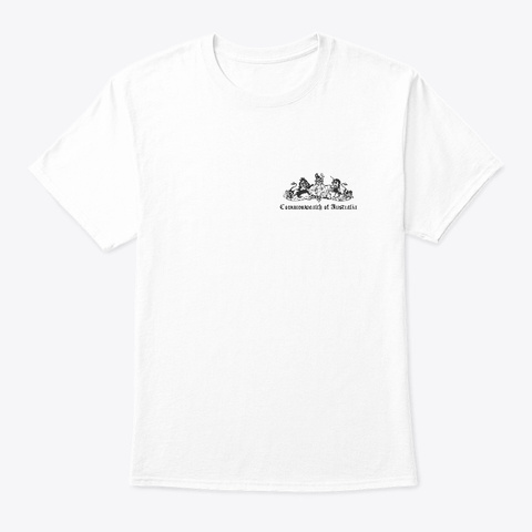 Co A Bw Front And Back White T-Shirt Front