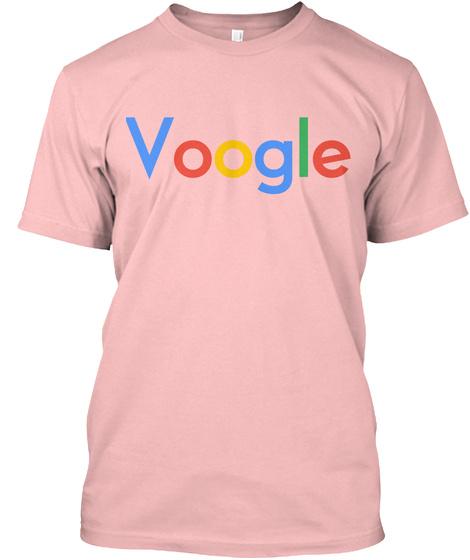 Voogle Pinku Pale Pink T-Shirt Front