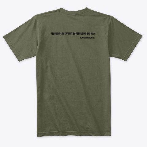 Bond Rebuilding The Man 2 Side Black Ink Military Green T-Shirt Back