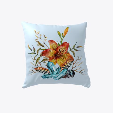 Tiger Lily Bouquet   Pillow Pale Blue T-Shirt Front