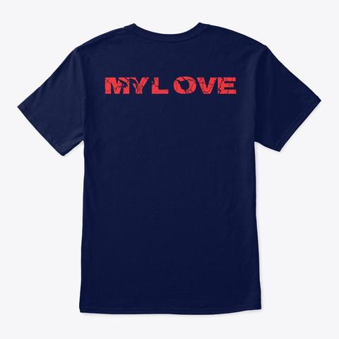 Katakan Cinta Navy T-Shirt Back