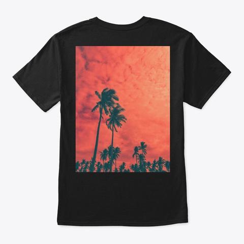 """@Uziest Palm Trees"" Black T-Shirt Back"