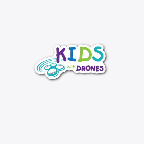 Kids With Drones Logo Stickers Standard T-Shirt Front