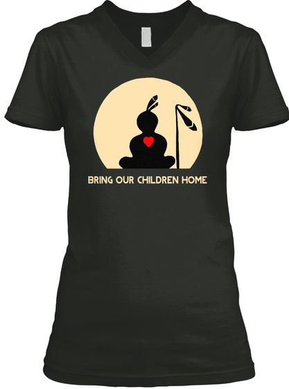 Bring Our Children Home Black T-Shirt Front
