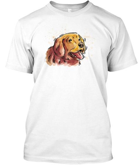 Hund Cachorro Hond Dog Chien Cane Perro  White Kaos Front