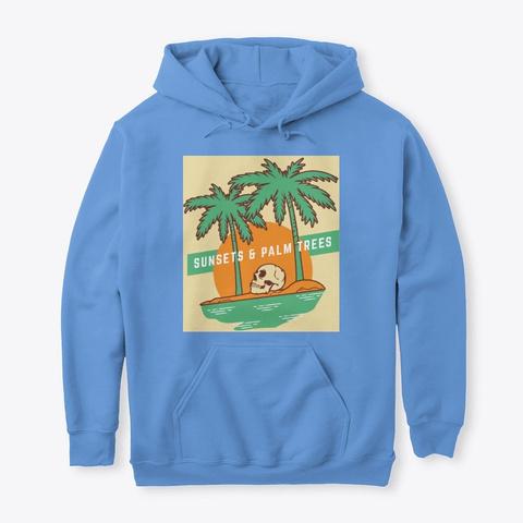 Palm Trees  Carolina Blue T-Shirt Front