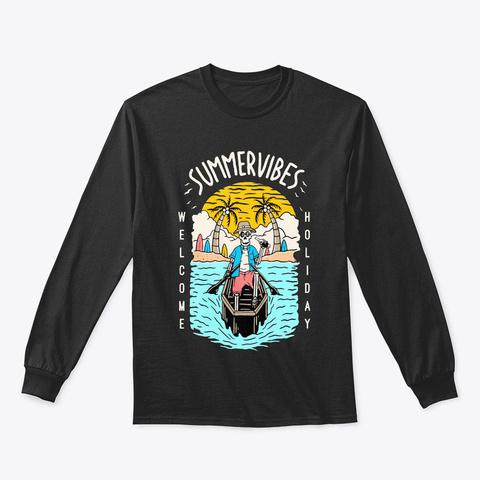 Summer Vibes Black T-Shirt Front