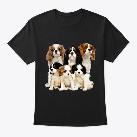 Cavalier King Charles Spaniel Five Black T-Shirt Front