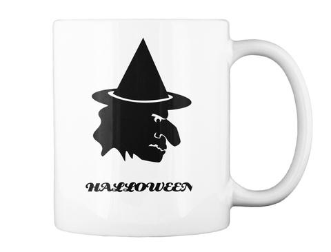 Halloween White Mug Back