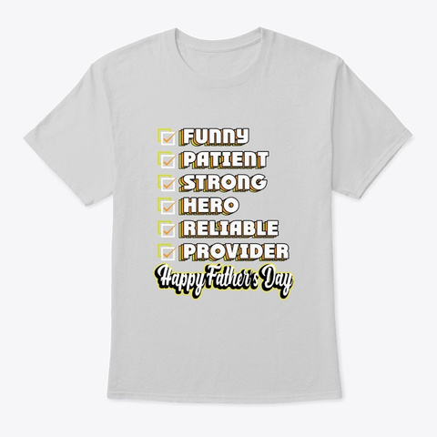 Happy Father's Day   Awesome Father Gift Light Steel T-Shirt Front