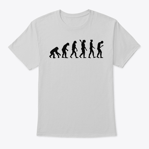 Smombie Smartphone Zombie Evolution Light Steel T-Shirt Front