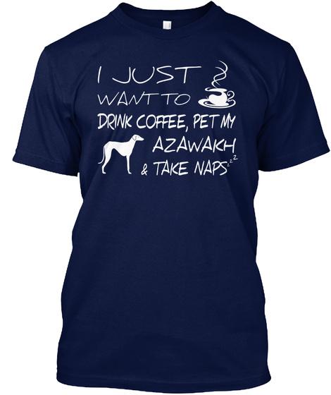 Azawakh Navy T-Shirt Front