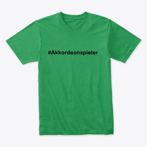 Akkordeonspieler   Falten Kelly Green T-Shirt Front