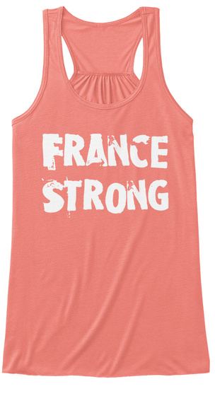 France Strong Coral T-Shirt Front