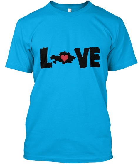 Love Turquoise T-Shirt Front