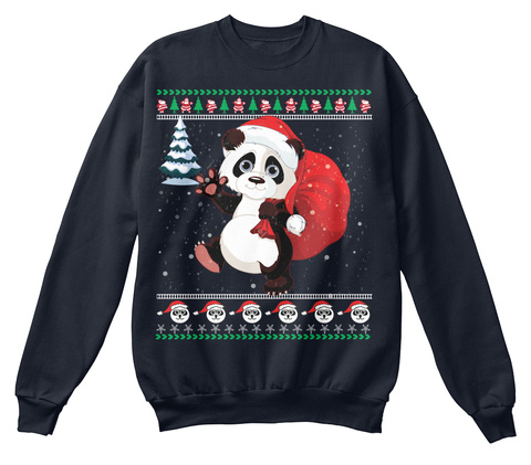 Ugly Trending UsTeespring From Panda Christmas Sweater Products gbf67Yyv
