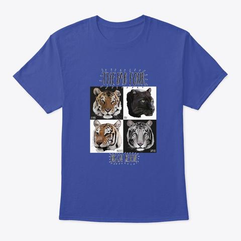 Big Cat Rescue Fab 4 Deep Royal T-Shirt Front