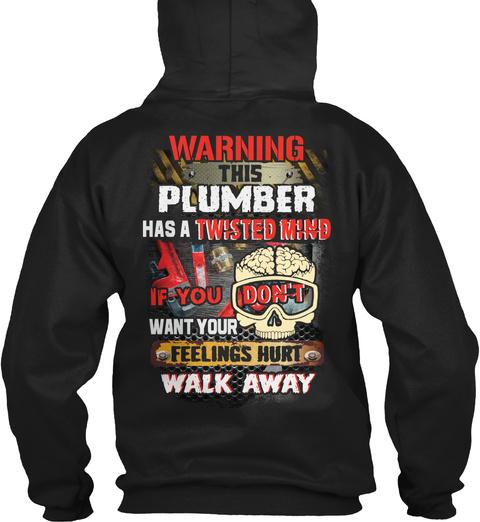Plumber Hoodie Christmas Special Black T-Shirt Back