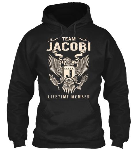 Team Jacobi Lifetime Member Black T-Shirt Front