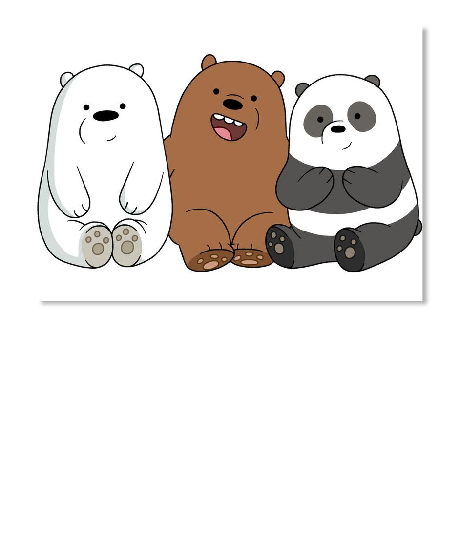 Runxin Design We Bare Bears Funny Tshirts Short Sleeve for Minor Black