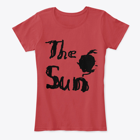 The Sun  Classic Red T-Shirt Front