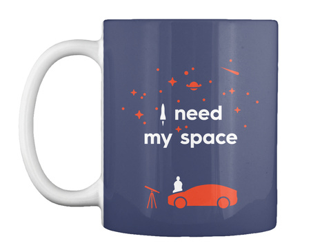 My Space Car Mug [Usa] #Sfsf Dk Navy Mug Front