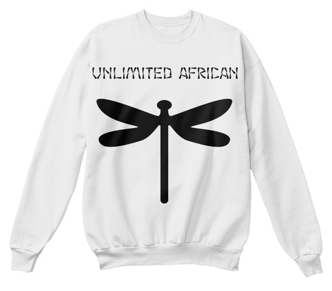 Unlimited African White  T-Shirt Front