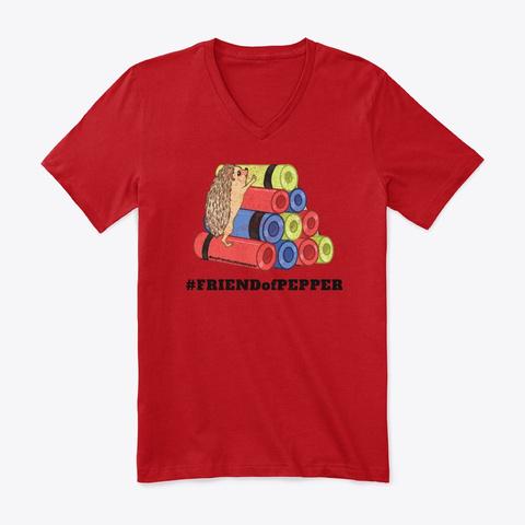 Unisex Friend Of Pepper Vneck Red T-Shirt Front