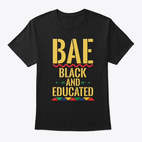 Womens Bae Black And Educated Tee Black T-Shirt Front