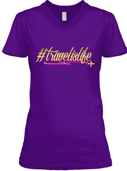 # Travelislife Team Purple  T-Shirt Front