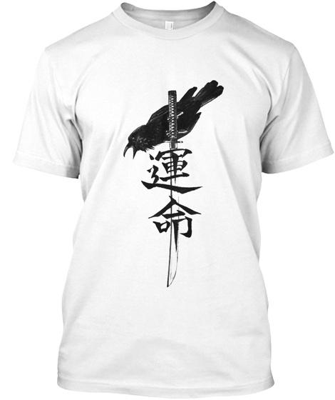 "Samurai ""F A T E "" White T-Shirt Front"