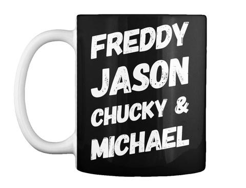 Serial Killer Halloween Mug Black T-Shirt Front