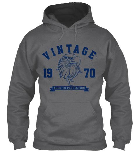 Vintage 1970 Aged To Perfection Dark Heather Sweatshirt Front