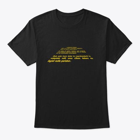 Lorem Ipsum Black T-Shirt Front