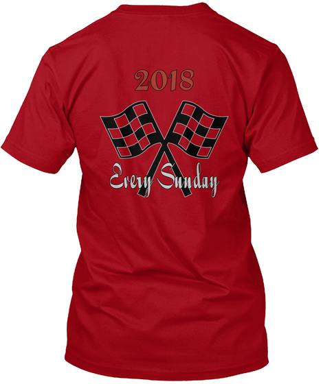 2018 Every Sunday Deep Red T-Shirt Back