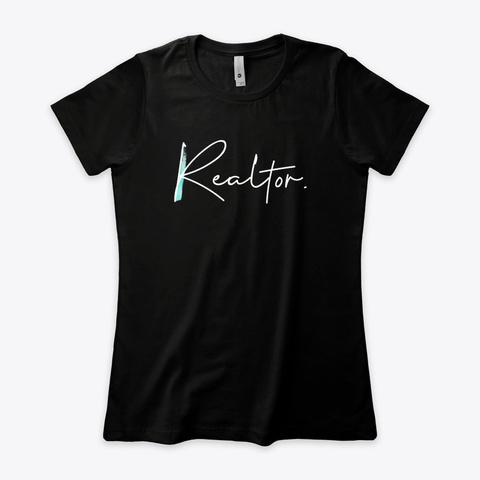 Real Estate Professional Black T-Shirt Front