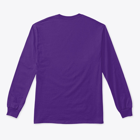 Space Cheddar The Long Sleeve Shirt Purple T-Shirt Back