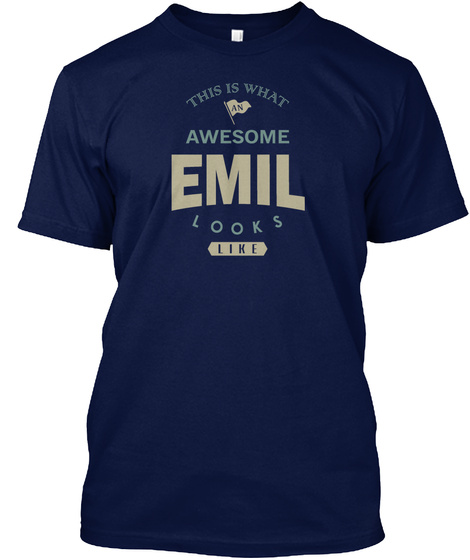 Awesome Emil Look Like Navy T-Shirt Front