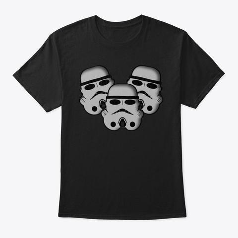 Trooper Trio Black T-Shirt Front