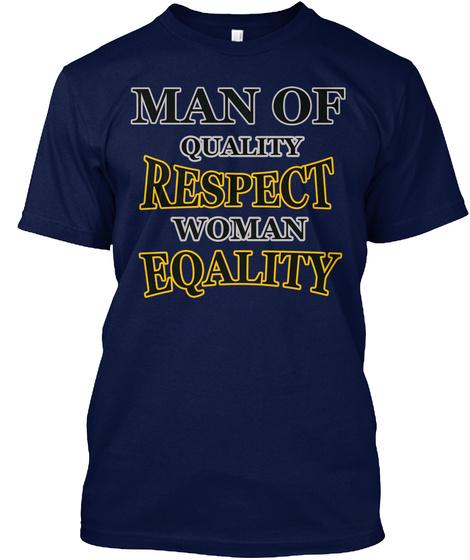Woman Power  Best Feminism T Shirt  Navy T-Shirt Front