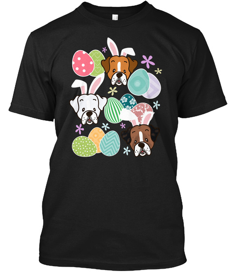 Easter Boxer Black T-Shirt Front