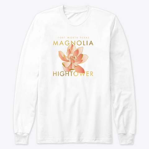 Hightower Magnolia T Shirt White T-Shirt Front